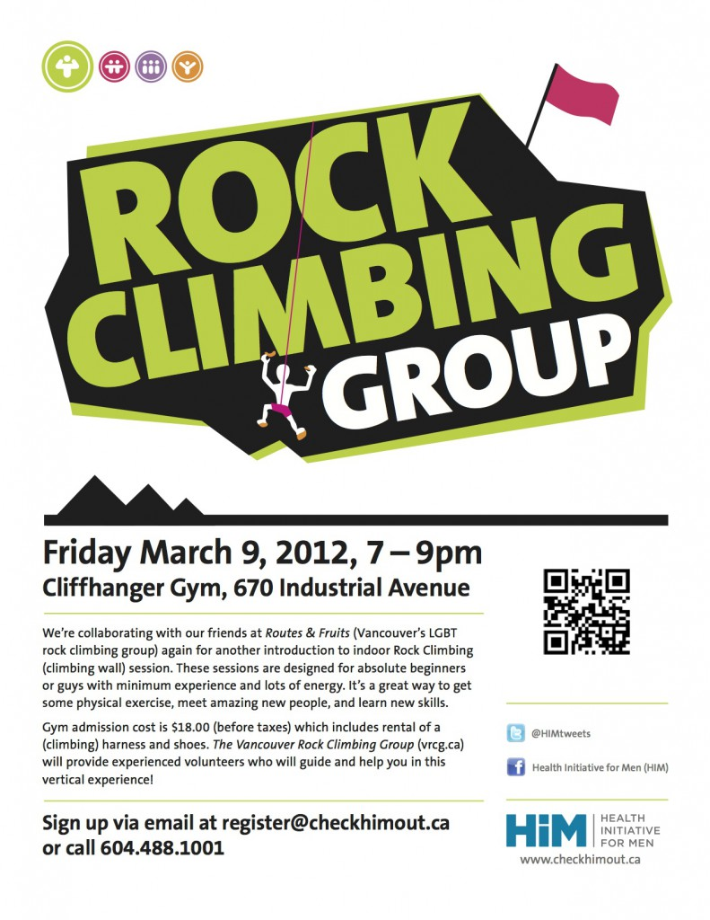 HIM Rock Climbing Group Poster