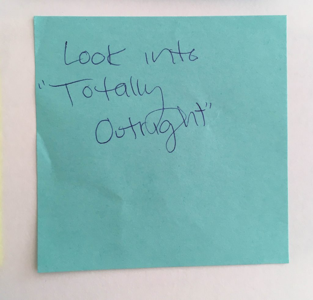 Poster Comment on a post-it note
